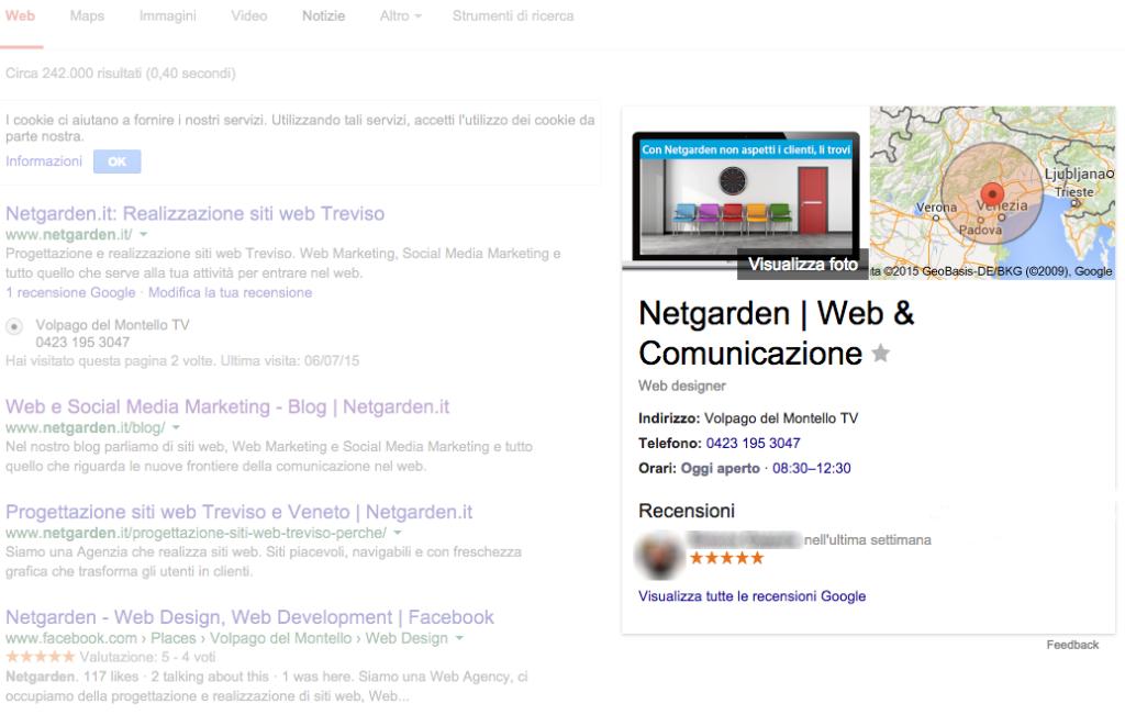 Web a basso costo con Google My Business